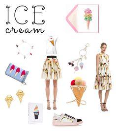 """I Love Ice creams..**"" by yagna ❤ liked on Polyvore featuring Yazbukey, Dolce&Gabbana, Brooks Brothers, STELLA McCARTNEY, Gorjana, Sophia Webster and vintage"