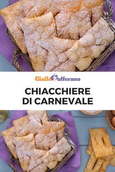 Le CHIACCHIERE sono uno dei dolci più amati e preparati nel periodo del Carnevale. Sono diffuse in tutte Italia con diversi nomi: chiacchiere, frappe, crostoli, cenci... la ricetta, però, è la stessa: una sfoglia sottile fritta, dorata e croccante! #giallozafferano #carnevale #carnival #mardigras #dolci #dessert #italianfood #italianrecipe #chiacchiere #frappe #crostoli #cenci [Italian food: Carnival dessert]