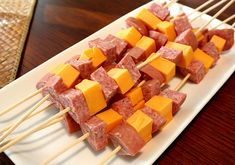 No-Carb Snack Skewers These skewers are great if you are trying to get in some protein while keeping your carbs as low as possible