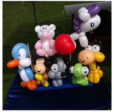 Menagerie balloon animals