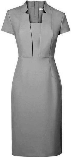 Patterns on individual sizes - GTDress. Simple Dresses, Short Dresses, Dresses For Work, Office Dresses, Chic Outfits, Dress Outfits, Fashion Dresses, Dress Skirt, Dress Up
