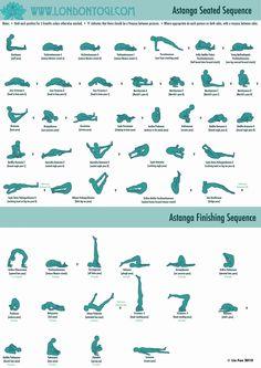 Yoga Asana (poses) Astanga Seated and Finishing Sequences Ashtanga Yoga, Asana Yoga Poses, Vinyasa Yoga, Yoga Sequences, Seated Yoga Poses, Bikram Yoga, My Yoga, Yoga Flow, Yoga Meditation