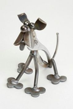 Yardbirds Junkyard Metal Animal Toolies - Ralph The Dog Unpainted - 82733
