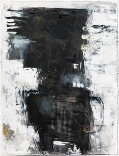 """CARBON DATING 32""""h x 21""""w  Mixed media on paper by Krista Harris"""