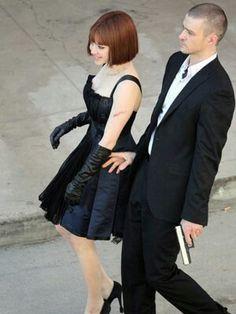 "Amanda Seyfried and Justin Timberlake, ""In Time"""