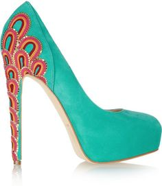 Brian Atwood - embroidered suede cuuuuute