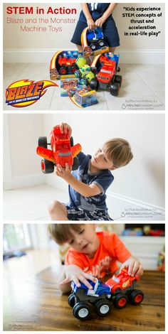 Put STEM in Action - Blaze and the Monster Machine toys help kids put STEM concepts into real life play. This post was sponsored so extra thanks for reading and supporting our blog.