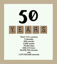 50 YEARS... 50th, Birthdays, Words, Gifts, Image, Anniversaries, Birthday, Favors, Presents