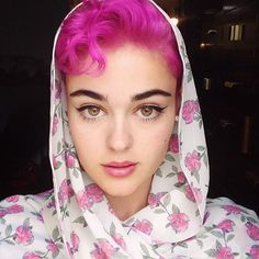 The pink Halloween hair isn't going anywhere     See more @stefania_raw