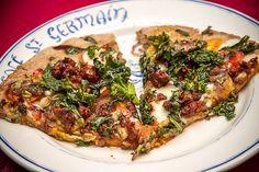 Angela's Food Love - Food Blog - merguez lamb pizza with mint pesto, caramelized onions, and crispy kale: pizza like noother