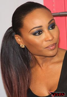 dave franco hairstyle : Gorgeous eye make up on Cynthia Bailey. She looks stunning with her ...