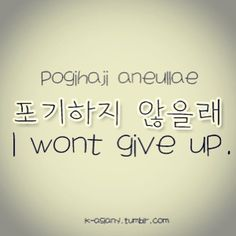 I won't give up | quote