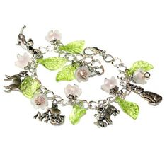 I love Cats  Charm Bracelet with adorable different cats and