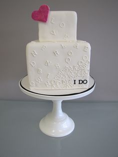 """i do"" cake by confectioneiress, via Flickr"