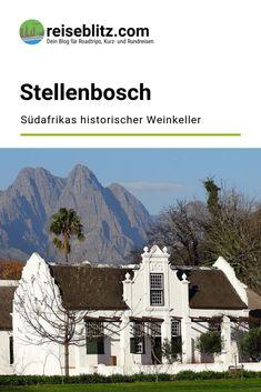 Stellenbosch ist Südafrikas zweitälteste Stadt und Weinbauzentrum. Was du im historischen Zentrum und auf den Weingütern erleben kannst, liest du hier. Desktop Screenshot, Travel, Wine Cellars, Centre, Round Trip, Travel Report, City, Viajes, Destinations