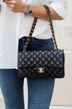 """Gucci bags now come in a number of sizes, shapes, colors, and designs. They are made and marketed throughout the world bearing the name """"Gucci"""" and a reputation for quality and design. Burberry Handbags, Chanel Handbags, Fashion Handbags, Fashion Bags, Chanel Bags, Style Fashion, Chanel Chanel, Chanel Purse, Luxury Fashion"""