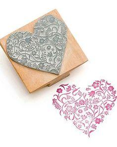 Flowery Heart Stamp