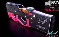 Anime Weapons, Sci Fi Weapons, Weapon Concept Art, Fantasy Weapons, Weapons Guns, Desenhos Cartoon Network, Future Weapons, Cyberpunk Art, Art Et Illustration