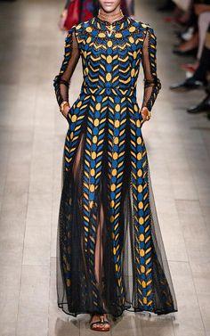 Designer inspired dress Spring Fashion Runway Long Sleeve Italian Style vintage