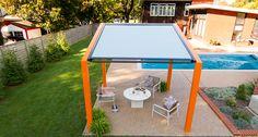 ShadeFlex & RainFlex Motorized Pergola Canopy + rooftop
