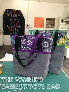 13 Woodhouse Road: Tutorial : World's Easiest Tote Bag