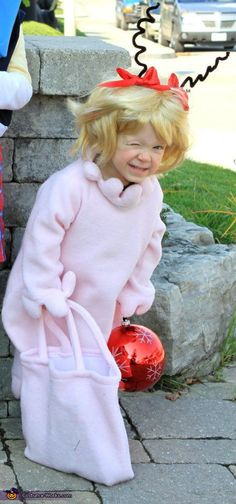 Sara: My daughter was Cindy Lou Who for Halloween. The original cartoon/book version, not the movie version. Little Cindy Lou Who, who was no more than two. A lot of people...
