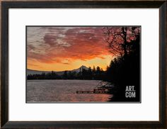 Blue Lake and Mt Hood at Sunrise, Oregon, USA Photographic Print by Jaynes Gallery at Art.com