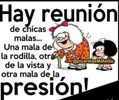 Reunión Funny Spanish Jokes, Spanish Humor, Spanish Quotes, Funny Jokes, Girly Quotes, Me Quotes, Mafalda Quotes, Family Bible Study, Inspirational Verses
