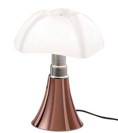 Scopri Lampada da tavolo Minipipistrello LED -/ H 35 cm - Versione rame, Rame di Martinelli Luce, Made In Design Italia