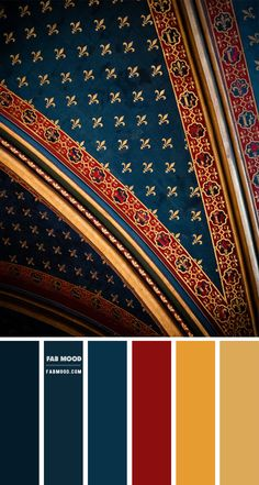 Navy Blue and gold color scheme – Color Palette #69 1 - Fab Mood | Wedding Colours, Wedding Themes, Wedding colour palettes Pantone Colour Palettes, Orange Color Palettes, Color Schemes Colour Palettes, Red Colour Palette, Gold Color Scheme, Paint Color Schemes, Color Schemes Design, Gold Palette, Navy Blue Color