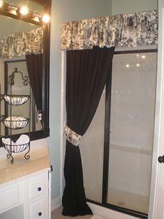 17 shower curtain over glass door ideas