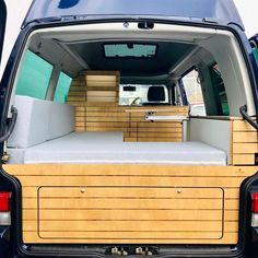 Vw Transporter Camper, T4 Camper, Travel Camper, Mini Camper, Van Conversion Layout, Van Conversion Interior, Camper Van Conversion Diy, Ford Transit Custom Camper, Caravan Van