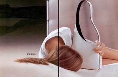 Prada Fall/Winter Angela Lindvall by Norbert Schoerner - the Fashion Spot Fashion Advertising, Advertising Campaign, Prada Handbags, Prada Bag, 90s Fashion, Fashion Models, High Fashion, Fashion Shoot, Fashion Bags