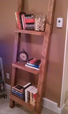 Simple bookshelf from old barn wood.