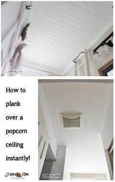How to plank a bathroom ceiling
