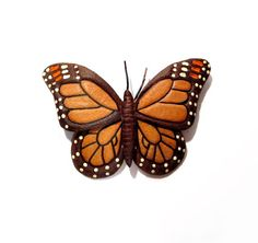Vintage Butterfly Brooch / Tooled Leather Hand by VintagePennyLane, $10.00