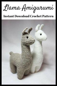 Llama Amigurumi Plush crochet praintable pattern. #ad #plush #amigurumis #amigurumilove #amigurumipattern #llama #llamalove