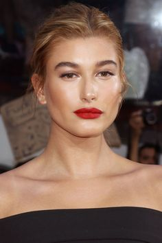 Who: Hailey Baldwin What: Bronze Glow How-To: Trying to fight NYC humidity is a losing battle; on hot nights, embrace dewy, glowy skin and lids like the model did. After sculpting with cream bronzer, tap gold illuminator along the tops of your cheekbones, down the bridge of your nose, across the brow bones and on your Cupid's bow, then add a wash of sheer, shimmery taupe shadow. Editor's Pick: Clinique Up-Lighting Liquid Illuminator in Bronze, $26, sephora.com.   - HarpersBAZAAR.com