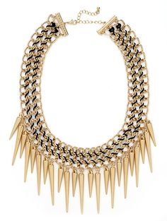 our gold Courtney spike bib from the Courtney Kerr collection!