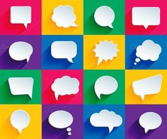 speech bubbles by Microvector on @creativemarket