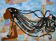 Magical goddess amiynah's has magical dancing hair. African American Art, African Art, Black Art Painting, Natural Hair Art, Afro Art, Black Women Art, Black Girls Rock, Artist Art, Love Art