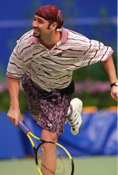 1995: Andre Agassi - Andre made a grunge statement in his pirate outfit.  Australian Open Tennis  #tennis  #ausopen  #agassi