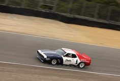 1971 AMC Javelin racing in Group 7A (1966-1972 Trans Am Cars) at the 2010 Rolex Monterey Motorsports Reunion