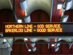 People may cry out to God on the Northern Line, but we wouldn't call it the God Service.