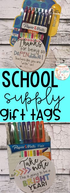 School Supply Gift Tags Check Out These Fun Gift Tags For Teachers Keywords Back To School First Day Meet The Teacher Gifts For Teachers Supply Gift Tags Pens Flair Pen Gift Pen Gif Tags Tracher Gifts, Best Gifts, Teacher Supplies, School Supplies, Back To School Teacher, School Classroom, High School, Kindergarten, Teacher Appreciation Week