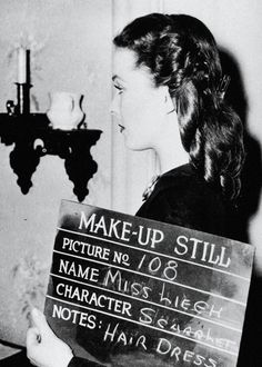 Vivien Leigh in a Make-Up Still for Gone with the Wind, circa February 1939.