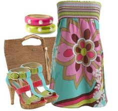 Colorful summer party dress ... LOVE IT