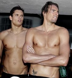 Florent Manaudou & Camille Lacourt, Olympic swimmers