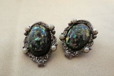 vintage clip on earrings by TimesTwoBoutique on Etsy, $18.00
