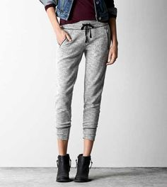 AEO Textured Zippered Jogger Pant (I'm loving this new trend and I can't wait to see how far the fashion industry takes this. It's comfy yet fashionable unlike the skinny jean.)